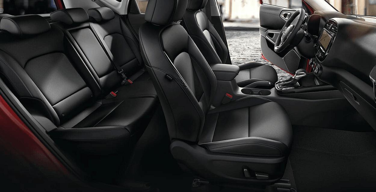 2020 Kia Soul interior seating and infotainment