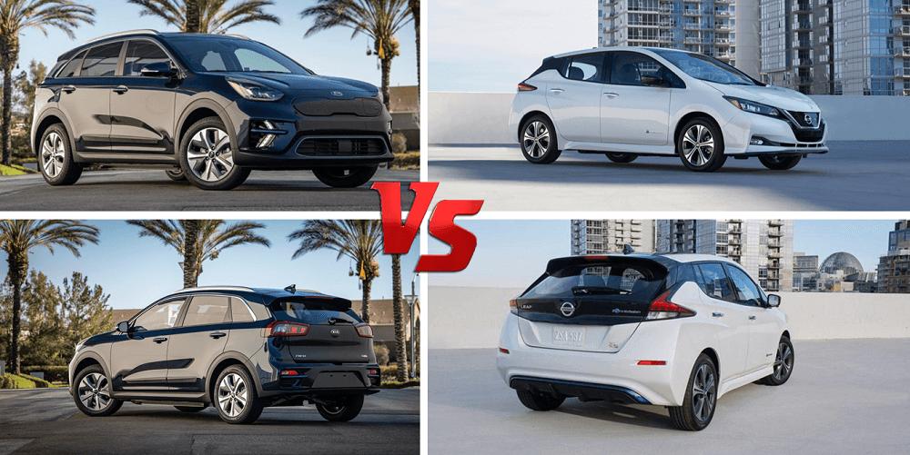 2020 Kia Niro EV vs 2020 Nissan Leaf Design Compared