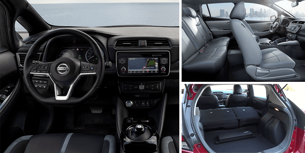 2020 Nissan Leaf Interior tech Seating and Cargo
