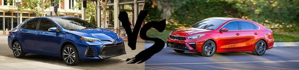 Compare 2019 Forte with 2019 Corolla